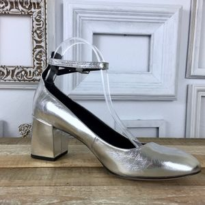 Rebecca Minkoff Silver Bridget Mary Jane Heels